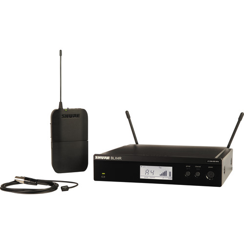Shure BLX14R/W93 Lavalier Wireless System with WL93 Lavalier Microphone (J10: 584 - 608 MHz)