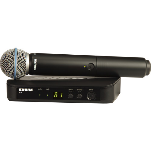 Shure BLX24 Handheld Wireless System With Beta 58A Mic (H9: 512 - 542 MHz)
