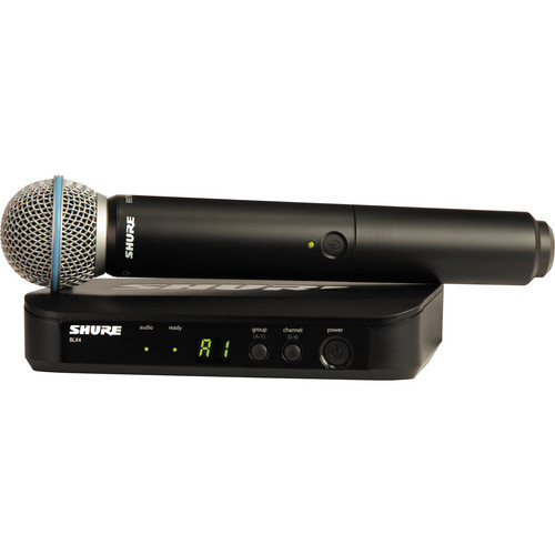 Shure BLX24 Handheld Wireless System With Beta 58A Mic (J10: 584 - 608 MHz)