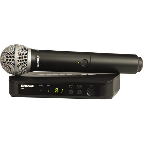 Shure BLX24/PG58 Wireless Handheld Microphone System with PG58 Capsule (H10: 542 to 572 MHz)