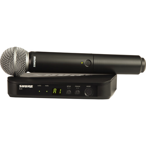 Shure BLX24/SM58 Wireless Handheld Microphone System with SM58 Capsule (H10: 542 to 572 MHz)