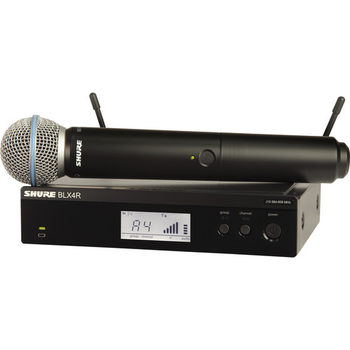 Shure BLX24R/B58 Handheld Wireless System with Beta 58A Mic (H9: 512 - 542 MHz)