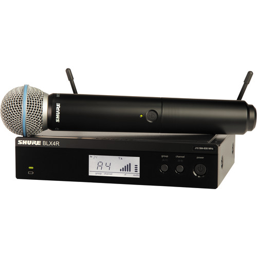 Shure BLX24R/B58 Handheld Wireless System with Beta 58A Mic (J10: 584 - 608 MHz)