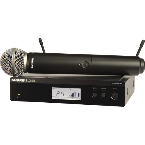 Shure BLX24R/SM58 Rackmount Wireless Handheld Microphone System with SM58 Capsule (H9: 512 to 542 MHz)