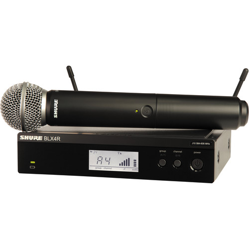 Shure BLX24R Handheld Wireless System with SM58 Mic (J10: 584 - 608 MHz)