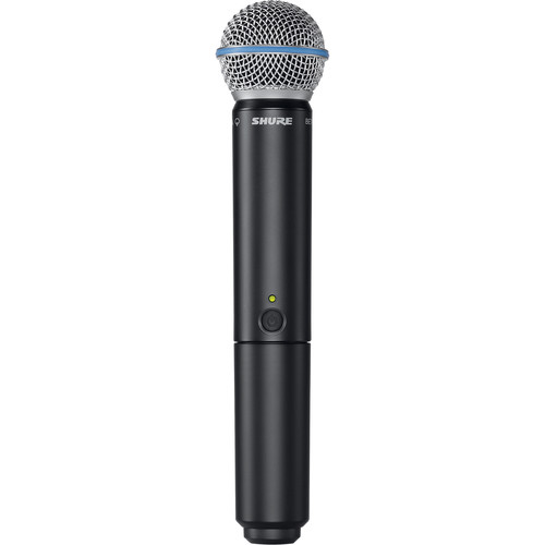 Shure BLX2/B58 Handheld Wireless Transmitter with Beta 58A Microphone Cartridge (H10: 542 - 572 MHz)