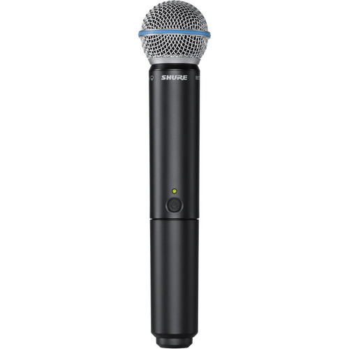 Shure BLX2/B58 Handheld Wireless Transmitter with Beta 58A Microphone Cartridge (J10: 584 - 608 MHz)