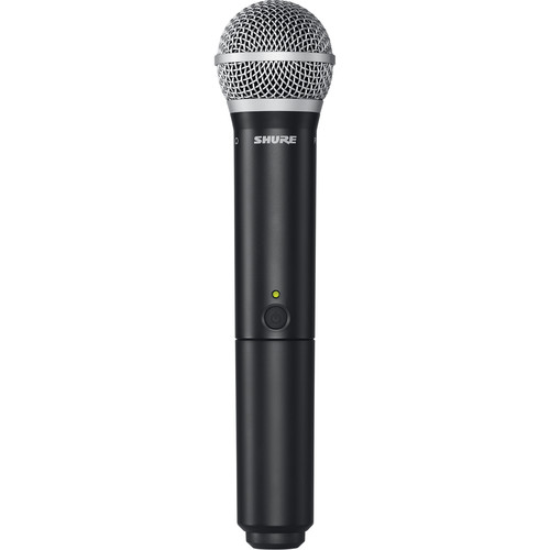 Shure BLX2/PG58 Handheld Wireless Microphone Transmitter with PG58 Capsule (H10: 542 to 572 MHz)