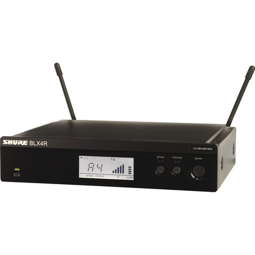 Shure BLX4R Single-Channel Wireless Rackmount Receiver (H9: 512 - 542 MHz)