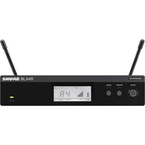Shure BLX4R Single-Channel Wireless Rackmount Receiver (J10: 584 - 608 MHz)
