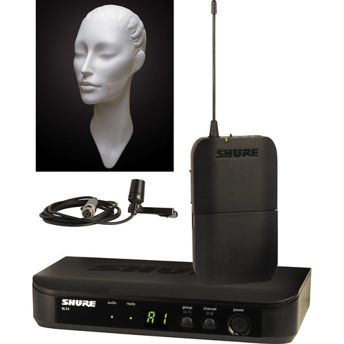 Shure BLX Lavalier Wireless System and Countryman E6 Earset Mic Kit (H8: 518 - 542 MHz)