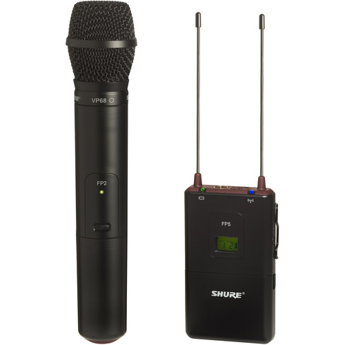 Shure FP2 Wireless Handheld Transmitter with Wireless Receiver (J3: 572 - 596 MHz)