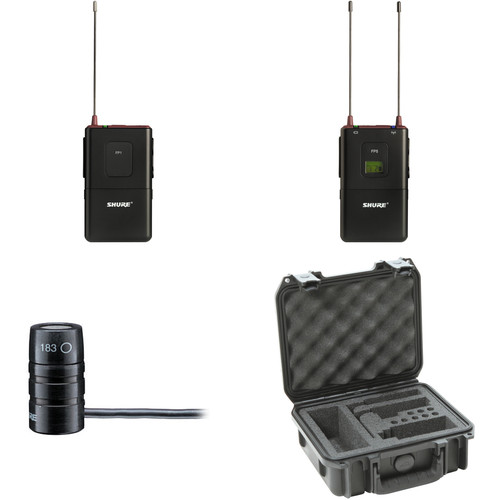 Shure FP Wireless Bodypack System with Case (J3: 572 to 596 MHz)