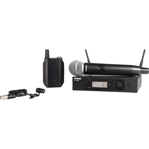 Shure GLXD124R/85 Handheld and Lavalier Combo Wireless System (Z2 Band: 2400 - 2483.5 MHz)