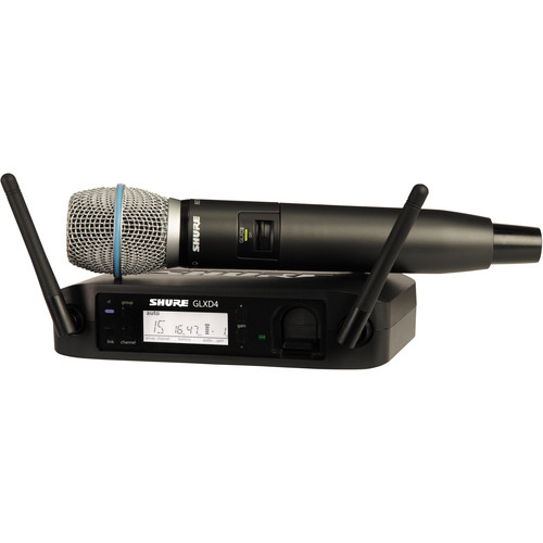 Shure GLXD24/Beta87A Handheld Wireless System (Z2 Band: 2400 - 2483.5 MHz)