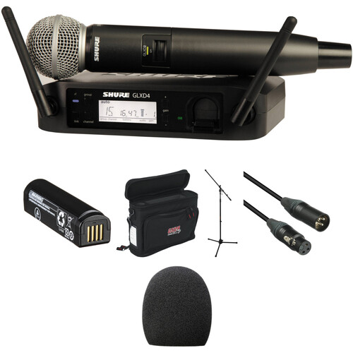Shure GLXD24/SM58 Handheld Wireless Basic Package Kit (Z2 Band: 2400 - 2483.5 MHz)