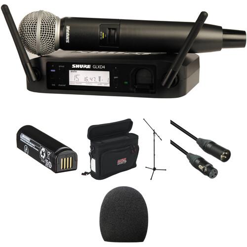 Shure GLXD24/SM58 Handheld Wireless Basic Package Kit (Z2 Band: 2400 - 2483.5 MHz)