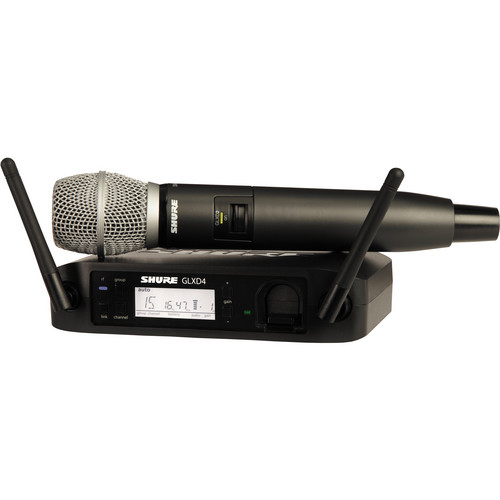 Shure GLXD24/SM86 Digital Wireless Handheld Microphone System with SM86 Capsule (2.4 GHz)