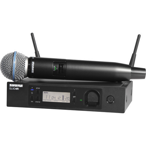 Shure GLXD24R/B58 Handheld Wireless System with Beta 58A Microphone (Z2 Band: 2400 - 2483.5 MHz)