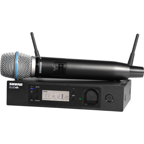 Shure GLXD24R/B87A Handheld Wireless System with Beta 87A Microphone (Z2 Band: 2400 - 2483.5 MHz)