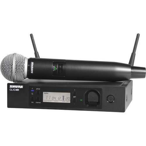 Shure GLXD24R/SM58 Handheld Wireless System with SM58 Microphone (Z2 Band: 2400 - 2483.5 MHz)