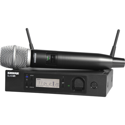 Shure GLXD24R/SM86 Advanced Digital Wireless Handheld Microphone System with SM86 Capsule (2.4 GHz)