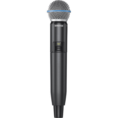 Shure GLXD2 Handheld Transmitter with Beta 58A Microphone Element (Z2 Band: 2400 - 2483.5 MHz)