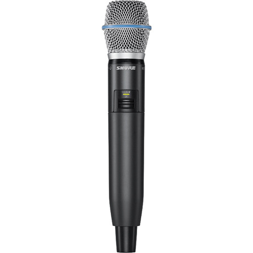 Shure GLXD2 Handheld Transmitter with Beta 87A Microphone Element (Z2 Band: 2400 - 2483.5 MHz)