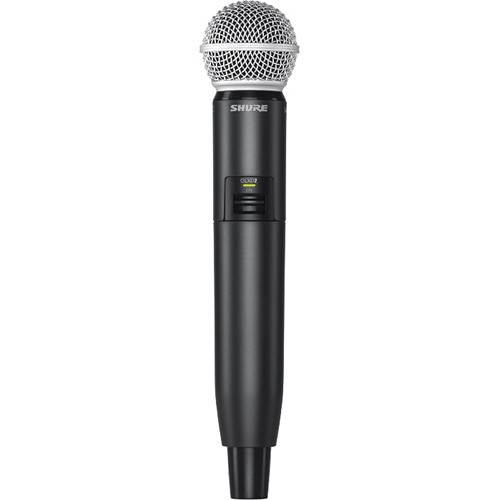 Shure GLXD2 Handheld Transmitter with SM58 Microphone Element (Z2 Band: 2400 - 2483.5 MHz)