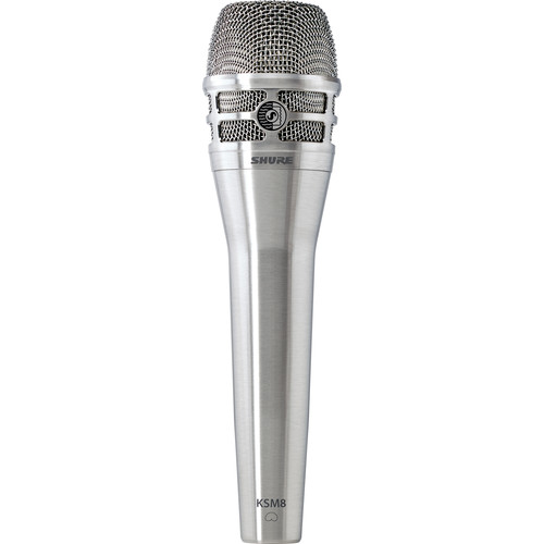 Shure KSM8N Handheld Microphone with Designer Stand Kit (Nickel)