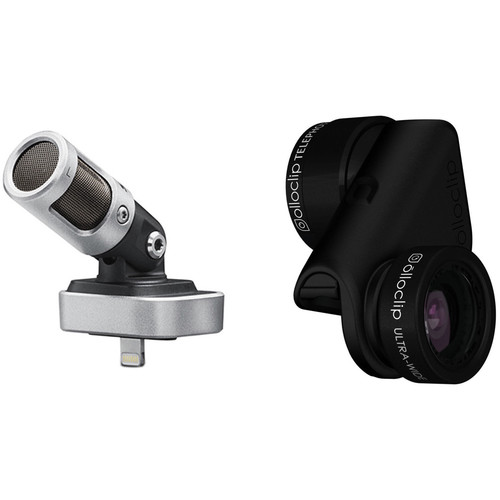 Shure MOTIV MV88 Stereo Condenser Mic with Active Lens Set and iOS Kit