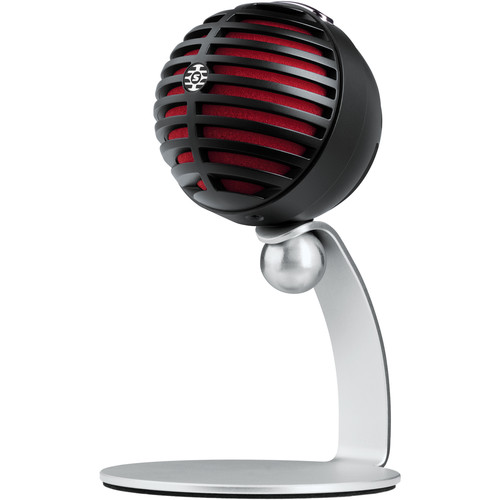 Shure MOTIV MV5 Cardioid USB/Lightning Microphone for Computers and iOS Devices (Old Packaging, Black/Read Foam)