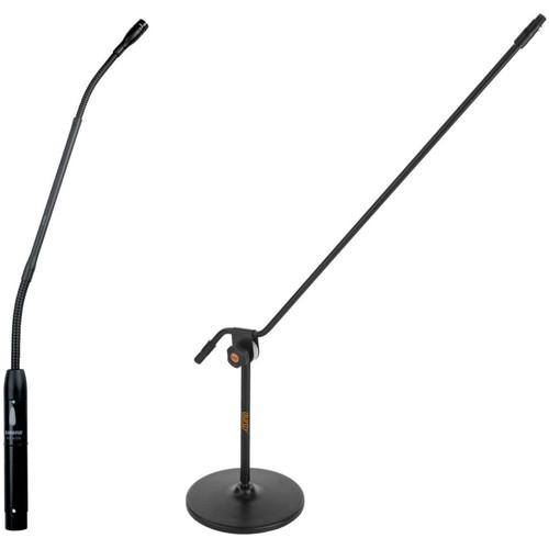 "Shure MX412C 12"" Cardioid Gooseneck Microphone with Mic Stand Kit"