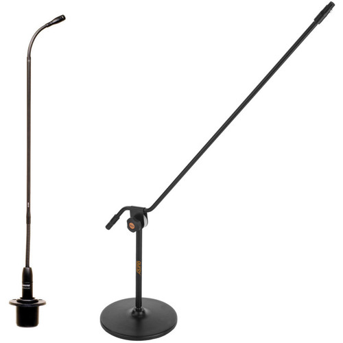 "Shure MX418S 18"" Supercardioid Gooseneck Microphone and Mic Stand Kit"