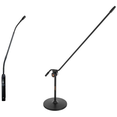 """Shure MX418SC 18"""" Cardioid Gooseneck Mic with Switch, and Mic Stand Kit"""