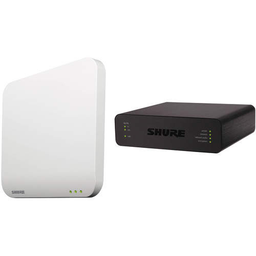 Shure MXWAPT4-Z10 Four-Channel Access Point Transceiver and ANIUSB-Matrix Kit