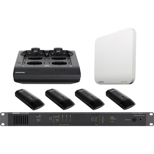 Shure Microflex 4-Channel Cardioid Boundary Microphone Wireless System