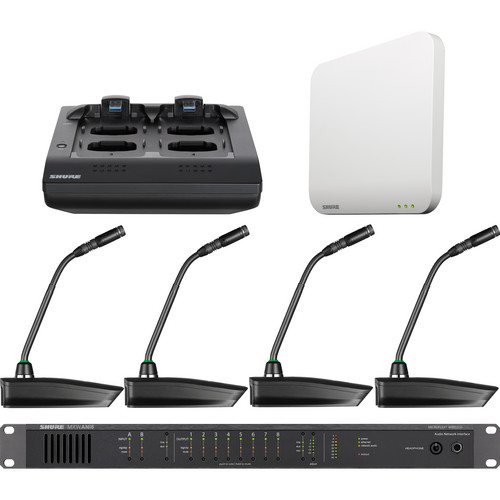 "Shure Microflex 4-Channel 10"" Gooseneck Microphone Wireless System"