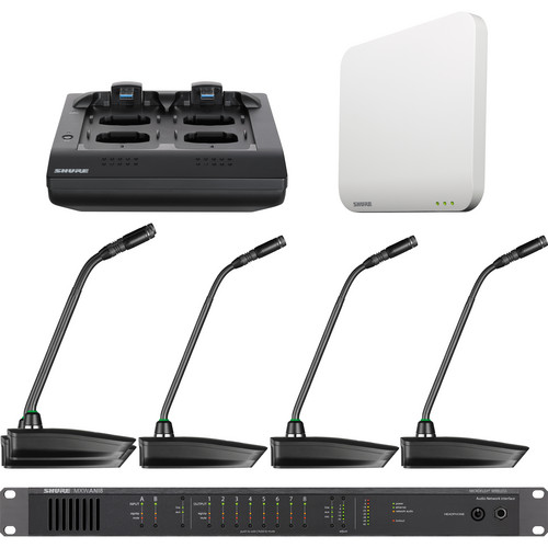 "Shure Microflex 4-Channel 15"" Gooseneck Microphone Wireless System (Band Z10: 1920 to 1930 MHz)"