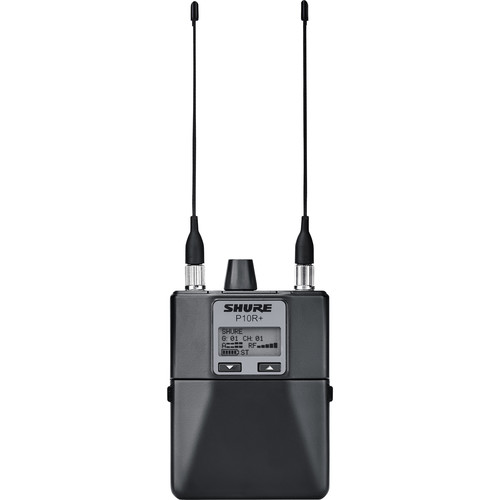 Shure P10R+ Wireless Bodypack Receiver (J8A: 554 to 616 MHz)