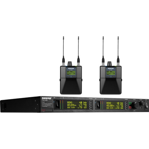 Shure PSM 1000 Dual Personal Wireless Monitoring Kit (G10: 470-542MHz)