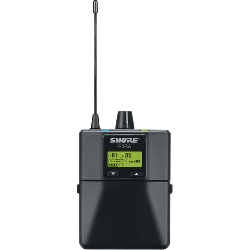 Shure P3RA Wireless Bodypack Receiver for PSM300 System (G20: 488-512 MHz)