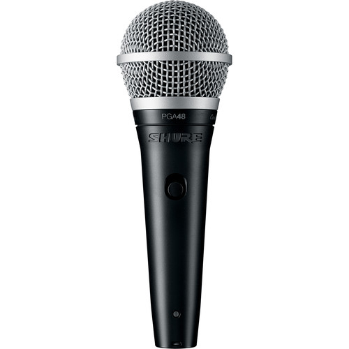 """Shure PGA48 Dynamic Vocal Microphone (XLR to 1/4"""" Cable)"""