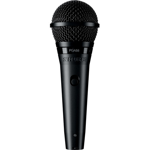 """Shure PGA58-QTR Cardioid Dynamic Vocal Microphone with XLR-to-1/4"""" Cable"""