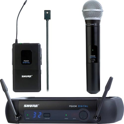 Shure PGXD124/PG58 and PGXD1/WL96 Digital Wireless Combo Kit