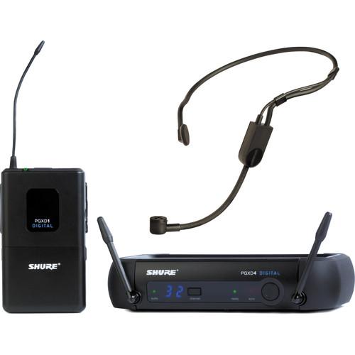 Shure PGXD14/PGA31 Digital Wireless Cardioid Headset Microphone System (900 MHz)