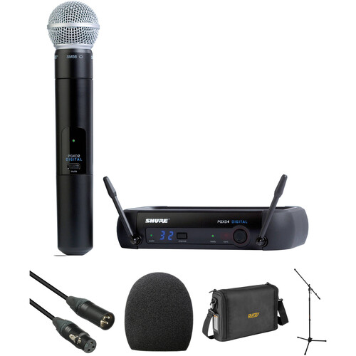 Shure PGXD24/SM58 Wireless Handheld Microphone Basic Package Kit