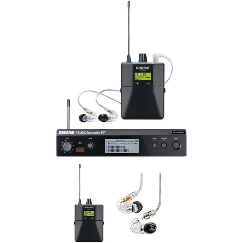Shure PSM 300 Twin-Pack Pro, Wireless In-Ear Monitor (G20: 488.150 to 511.850 MHz)