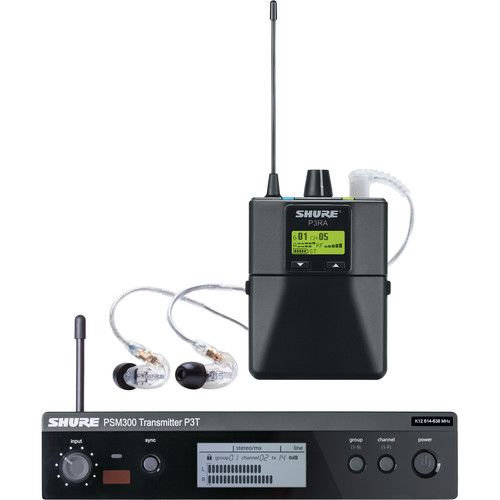 Shure PSM 300 Twin-Pack Pro, Wireless In-Ear Monitor (H20: 518.200 to 541.850 MHz)
