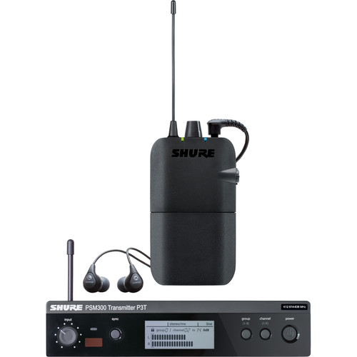 Shure PSM 300 Twin-Pack Wireless In-Ear Monitor (H20: 518.200 to 541.800 MHz)